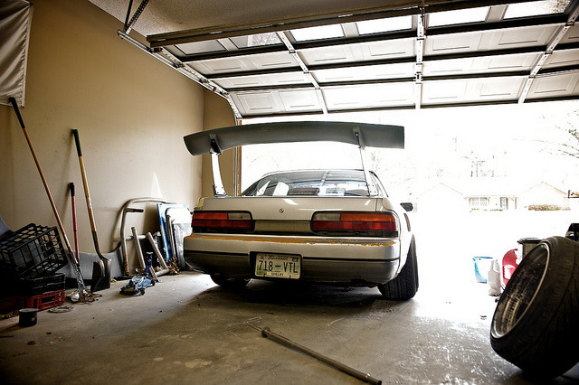 DSC_6759 on Flickr. BCL Wing Fitting before repaint of this s13