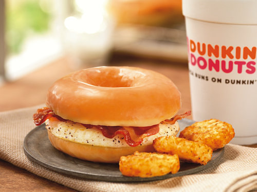 Dunkin Donuts Has Glazed Donut Breakfast Sandwiches Now Great for your taste buds, terrible for every other part of your body. The greasy poos start now, but only in select D&D's in eastern Massachusetts where the new sandwiches are currently being tested.