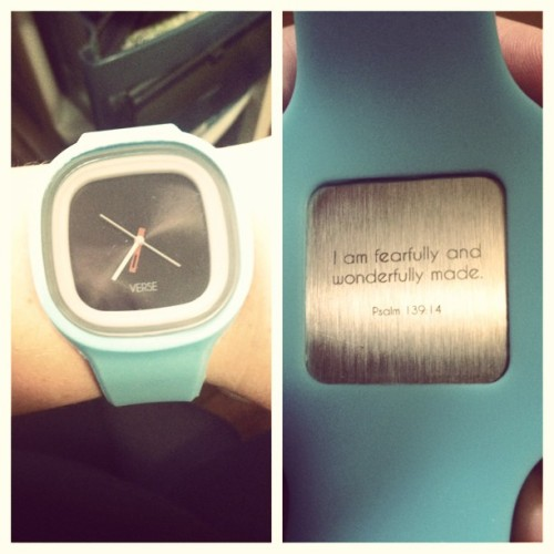 meghantonjes:  Got this in the mail! @verse_watches #fearfullyandwonderfullymade