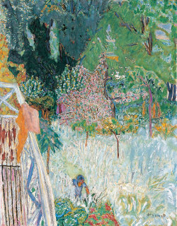 Balcony at Vernonnet Pierre Bonnard 1920 oil on canvas