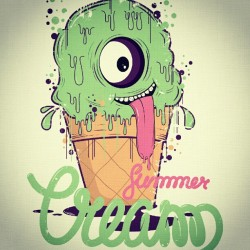 Summer cream final work #summercream #dfault #illustration #design #type #artwork #creative #finalwork