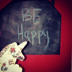 Don't worry, Be Happy!  #lilunicornlove #be #happy #loveeverything #includingyou! #peace #purdy #godmomshouse (at Home Sweet Home!)