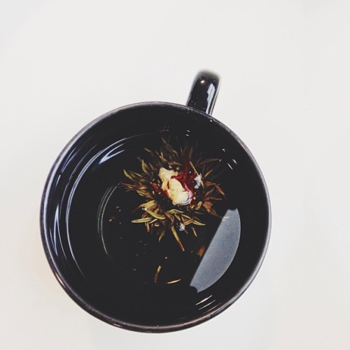 Blooming tea.