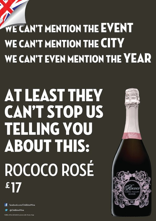 Brilliant copy for Rococo Rosé