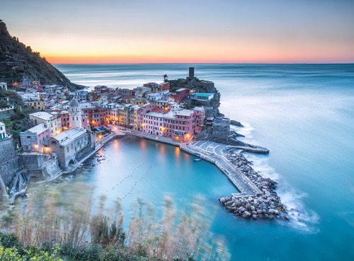 """First light in Vernazza""- 12.12.12 by Roberto Sysa Moiola"