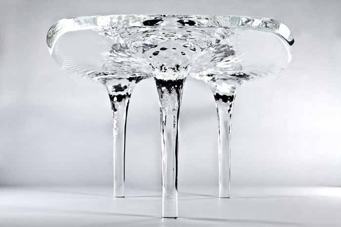 Liquid Glacial Table by Zaha Hadid