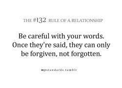 mystandards:  Words can hurt more than one might think…