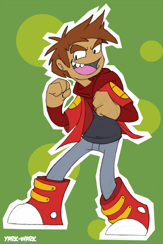 Something quick I drew last night after buying the Bravest Warriors comics. I've been watching the cartoon, and I've always loved Danny on there, so why not draw some quick fan art. I know I wanna try a better one of him at a later point cause this dude owns.   Seriously, watch and read this. I actually like it over Adventure Time, but I'm not insulting AT in any way. Both own.
