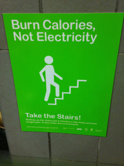 toofittoquitagain:  Burn calories, not electricity!