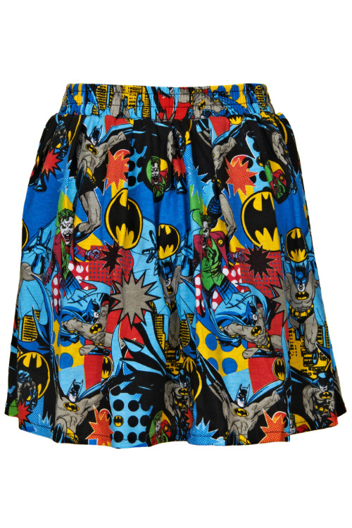Batman a-line skirt, $35.99, by ROMWE