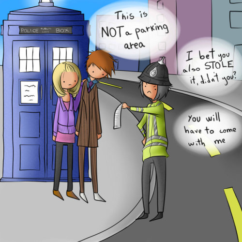 helplesslynerdy:  The Doctor and Rose in Trouble by *Lalai-chan