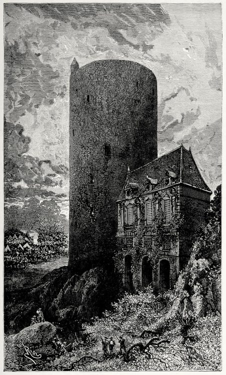 oldbookillustrations:  The Gauvain tower.  Édouard Riou, from Ninety-three vol. 2, by Victor Hugo, London, New York, 1889.  (Source: archive.org)
