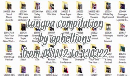aphellions:        RULES:• do not take out download links• do not edit any of these photos• compiled for personal use only       → 081112 MBC FM DJ Concert to 130322 Hong Kong Asian-Pop Music Festival→ 1331 Files | 366MB | download 1 2→ reblog, share, and enjoy!