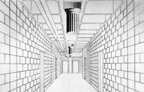 Jean Nouvel, Drawing for Passageway, Circa 1980