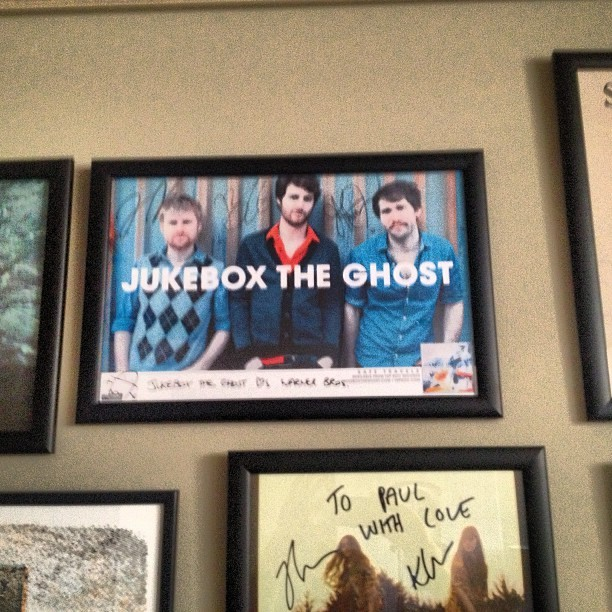 On the wall at Warner Brothers @jukeboxtheghost #safetravels
