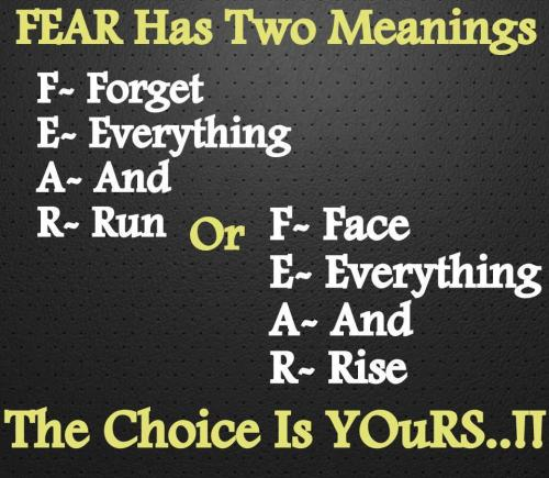 The meanings of FEAR… which one do you pick?