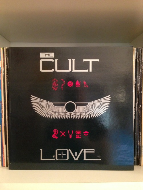 "lumpenabstract:  RYMH # 149 (CD#65) The Cult ""Love"" (Beggars Banquet, 1985) Here she comes again. http://grooveshark.com/s/Rain/4Gxmwc?src=5"