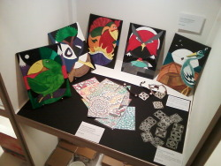 Got a few of my bits and pieces displayed at The Sho art gallery in Cardiff.