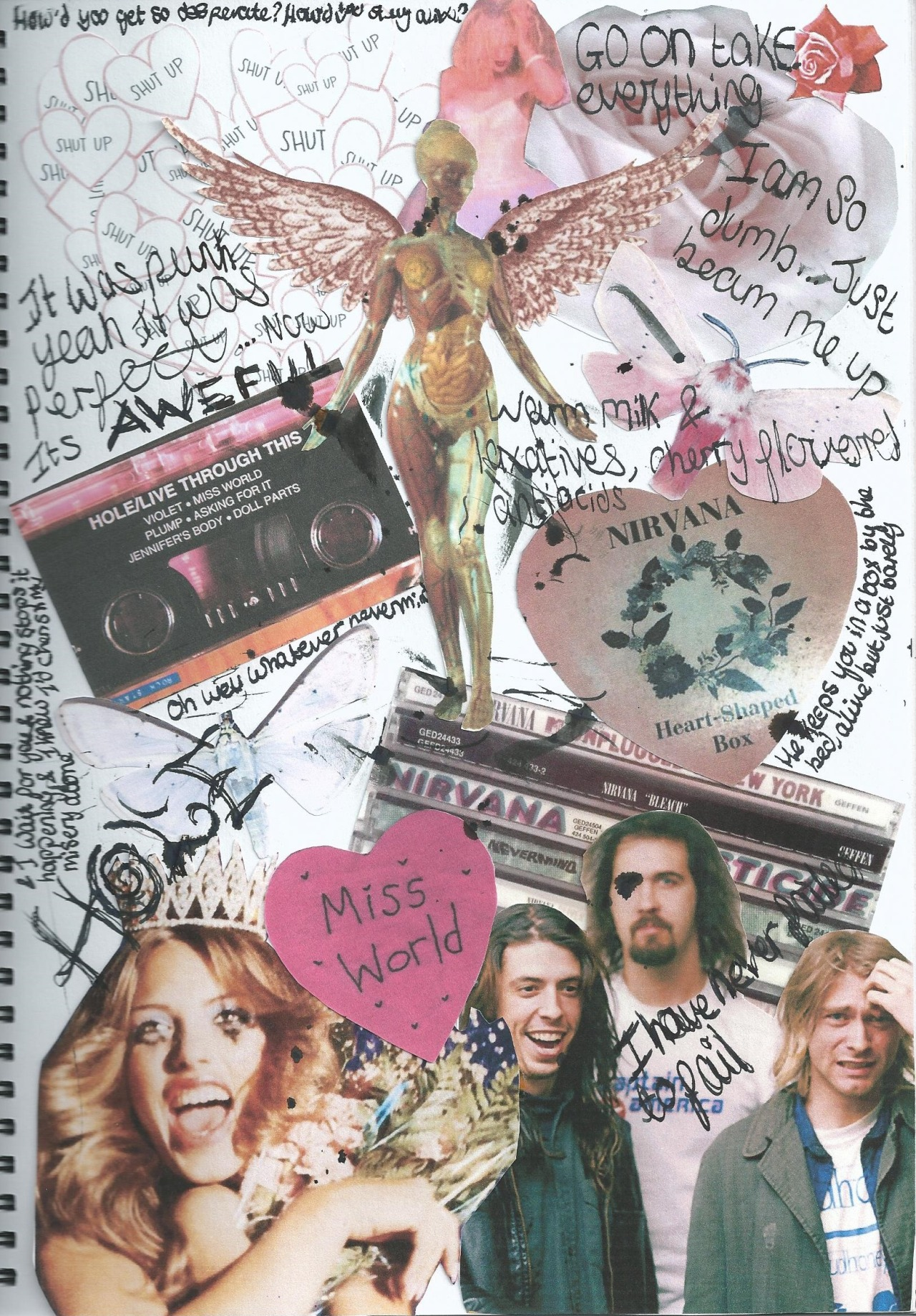 dyingistheultimatehigh:  Nirvana & Hole appreciation collage I did  This is really cool