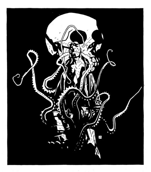 hellboyfansinhell:  HELLBOY IN HELL #1 Unused cover by Mike Mignola