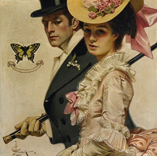 mudwerks:  (via LARGE SIZE PAINTINGS: J.C. LEYENDECKER Easter)  beauty. classy.
