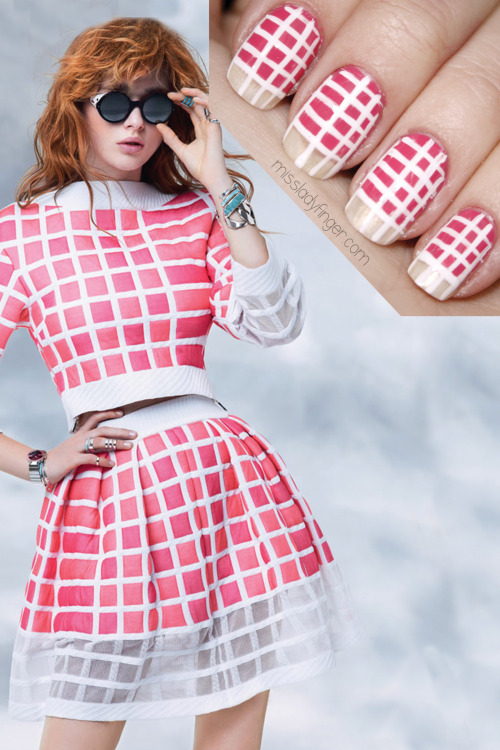 MANICURE MUSE: Chanel Spring '13 for British Elle A Chanel sugar rush just in time for Valentine's Day… get the Ladyfinger.