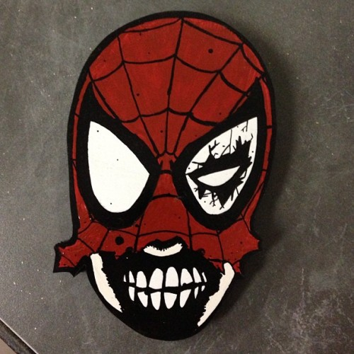 Check out the @Marvel Zombies Spider-Man I made for @JABSEN.  (at ZombieLab)