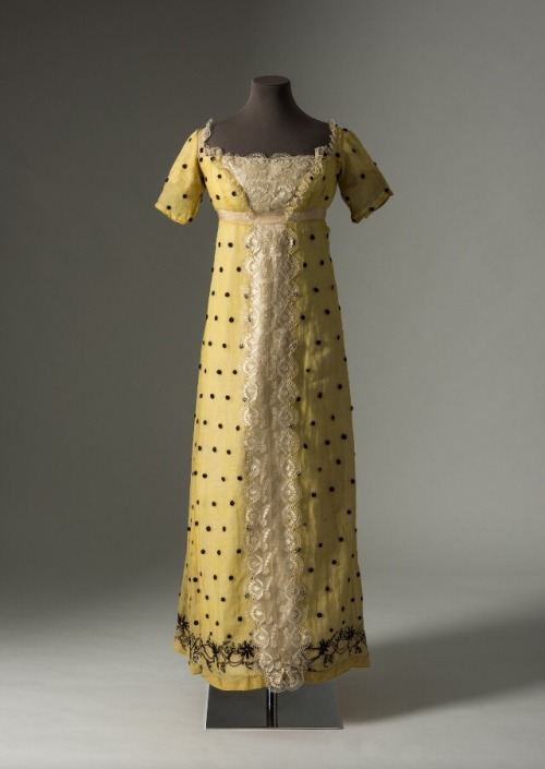 Yellow spotted muslin dress  ca 1815  Part of the Lace in Fashion exhibit  at the Fashion Museum of Bath fashion museum at bath   Tumblr. Bath Fashion Museum Gift Shop. Home Design Ideas