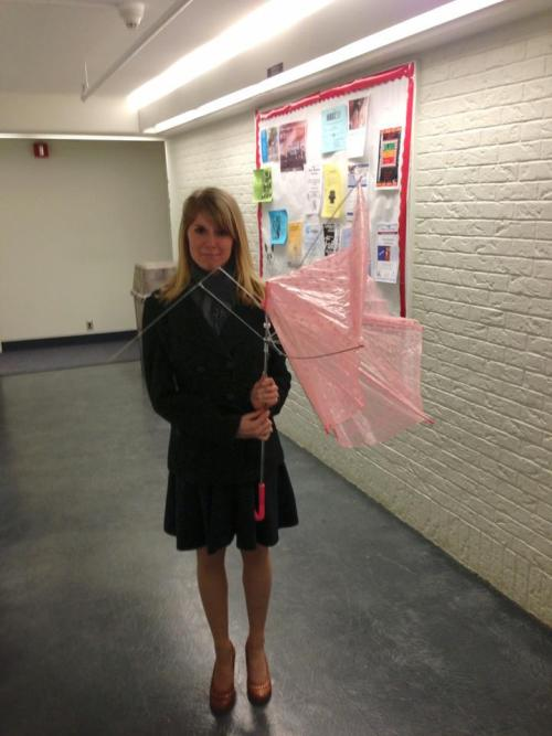 Look at what this damn blizzard did to my Swimmer umbrella from Tokyo ;___;