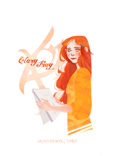 galaxyspeaking:  I wanted to draw Clary from the Mortal Instruments, as I finally finished the first three books. This is how I pictured her while reading. Jace will follow soon !