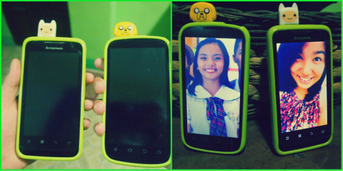 Finn and Jake :) Hahaha ♥ (Me and My big Sis) :')
