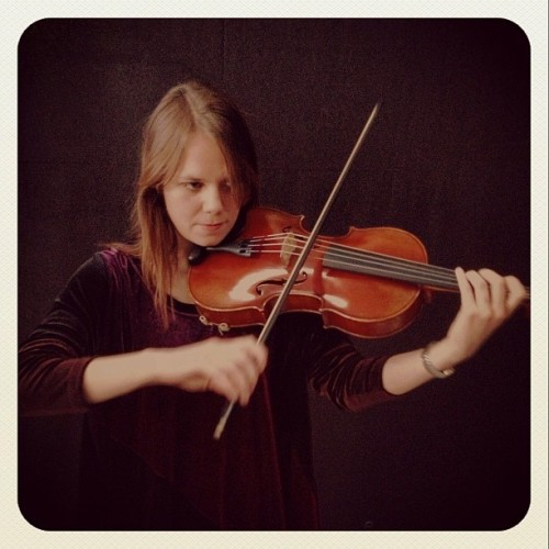 introducing the live band, part 5. ingrid from the okkr ensemble on viola. http://instagr.am/p/VUpBVoIcV2/