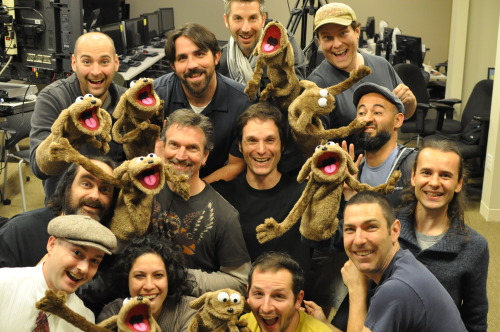 It's a puppet party! This artistic development class explored the non-digital side of animating, because our animators are essentially actors that give life to characters.