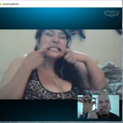 Funny face video chat with Geo and the beautiful and charming @crystal_celeste