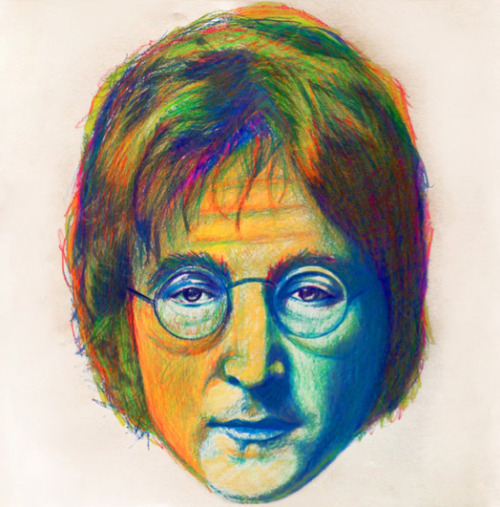 just-art:  John Lennon by Nicky Barkla Artist: Tumblr / DeviantArt