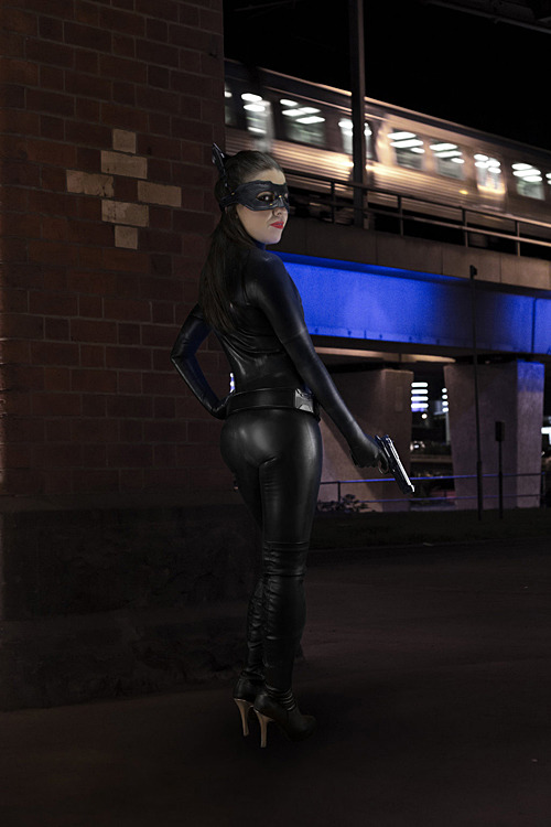 TDKR Catwoman cosplay. Photo by Test Monkeys Media.