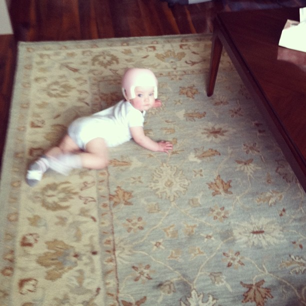 New Rug and baby. #april2012baby #babiesofinstagram #cutiepie  (at Greenpoint)