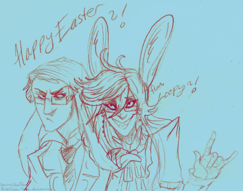Happy Easter everyone and God bless ;o; ~! Really quick doodle for you guys ;o;.