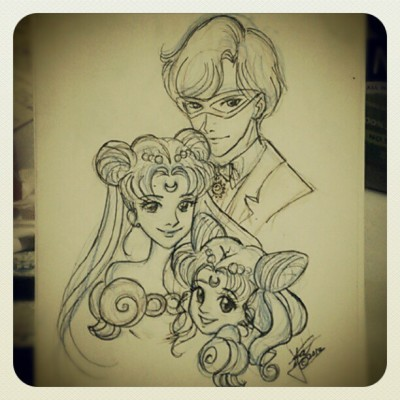 Family portrait - King Endymion, NeoQueen Serenity and Princess Serenity <3 #pgsm #pinkiarts #Sailormoon #usagi #mamoru #serenity
