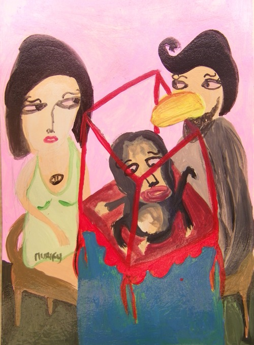 dandi lori and i | acrylic on paper 2011