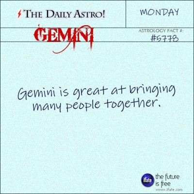 Gemini 5778: Visit The Daily Astro for more facts about Gemini.