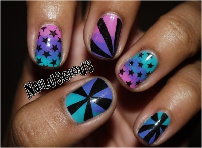 nailuscious:  Stars & Rays. More on my Blog