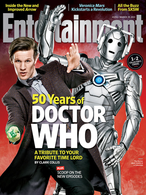 entertainmentweekly:  This week in EW: We visit Doctor Who on location in Wales, grill executive producer Steven Moffat about upcoming episodes and the 50th anniversary special, and luncheon in Manhattan with Matt Smith. Our Who package also contains a breakdown of all 11 Doctors and, perhaps best of all, an essay by Peter Jackson in which the Lord of the Rings director recounts his Who-love and announces his price for directing an episode. You'll think the magazine is, well, bigger on the inside…