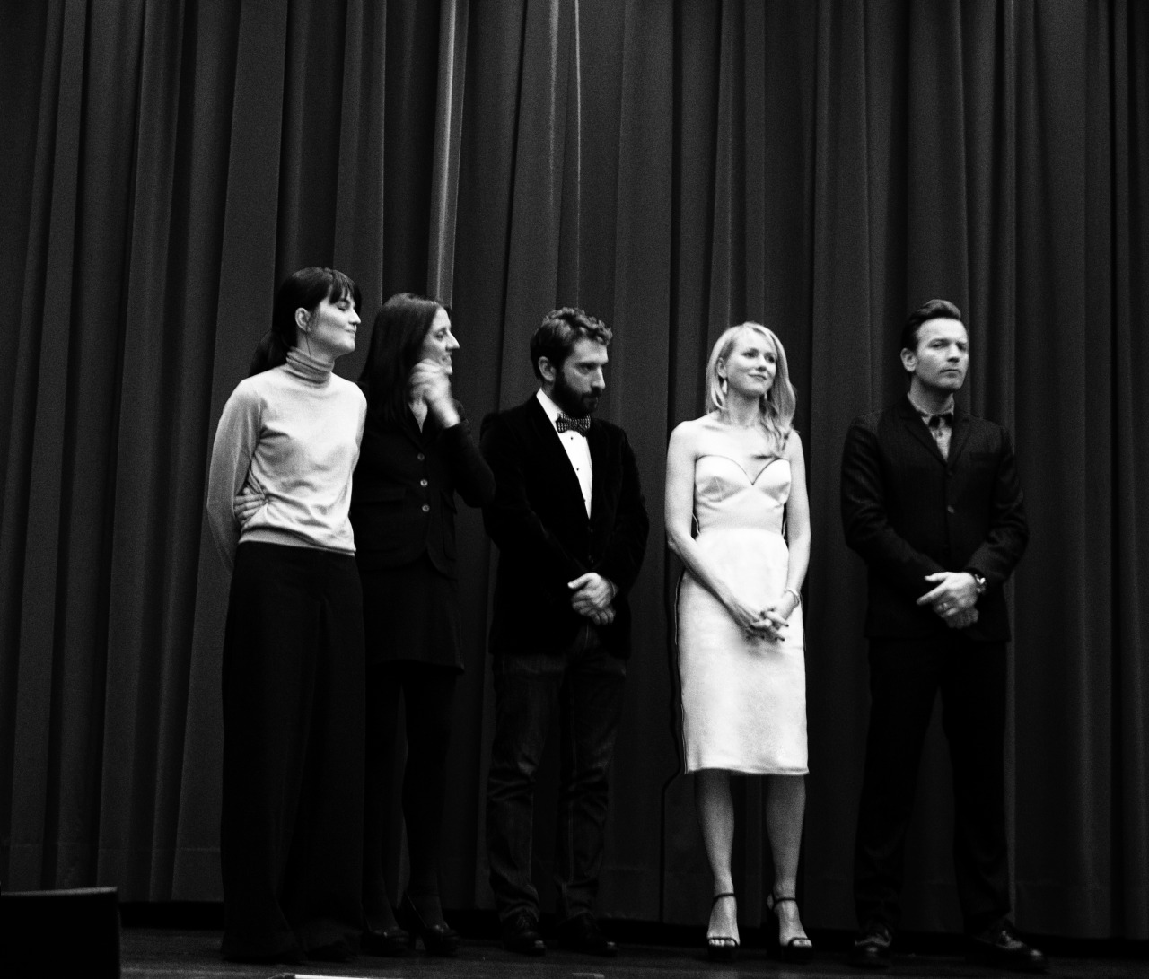 Taken right before we screened the movie, The Impossible. Maria Belon, whose story the movie is built upon, is on the far left, with producer Belen Atienza, director J.A. Bayona, and stars Naomi Watts, and Ewan McGregor.