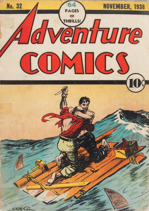 adventures-of-the-blackgang:  Adventure Comics #32 (DC, 1938)  First issue (formerly titled New Adventure Comics). Cover by Creig Flessel. Artists include Fred Guardineer, Bob Kane, and Joe Shuster.   hugs not thugs…