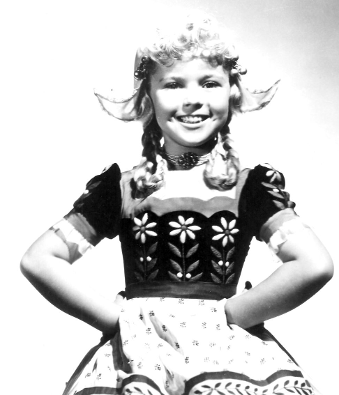 Shirley Temple, in costume for Heidi, 1937.