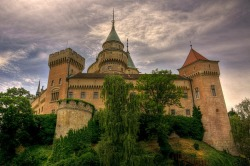 "Bojnice Castle, Slovakia - rated as one of the 25 most beautiful castles in Europe It is one of the most visited medieval Romantic castles in Slovakia with original Gothic and Renaissance elements built in the 12 th century and also being a popular filming stage for fantasy and fairy-tale movies. Location on MAP : GPS: N48°46'48.15""   E18°34'40.31"" Architecture : Gothic, Renaissance Bojnice Castle was first mentioned in written records in 1113, in a document held at the Zobor Abbey, Nitra, Slovakia. Originally built as a wooden fort, gradually rebuilt by Poznan family to stone. Its next owners included Matúš Čák of Trenčín ""Lord of the river Váh and the Tatra Mountains"", who received it in 1302 from the King Ladislaus V;  15th century - owned by King Matthias Corvinus, who gave it to his illegitimate son John Corvinus in 1489. Later owned by famous noble families (Zapolya, Thurzos). From 1646 on, the castle's owners were the Palffys, who created today's beautiful imitation of the French castles of the Loire valley. Today there is a museum (part of Slovak National Museum) and the castle is surrounded by the castle park, which contains the Bojnice Zoo (the oldest and one of the most visited zoos). The castle park continues in the form of a forest park in the Strážov Mountains. The castle is renowned for its attractions, including the popular Castle Fairytale, the International Festival of Ghosts and Spirits, Summer Music Festival, Day and Night Tours and Special Christmas, Easter and Valentine`s Programmes. The romantic castle is also a popular location for filming fairy tale movies, such as Fantaghirò. It hosts the single most popular museum in Slovakia."