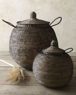 ccchicpotpourri:  Woven baskets at Horchow
