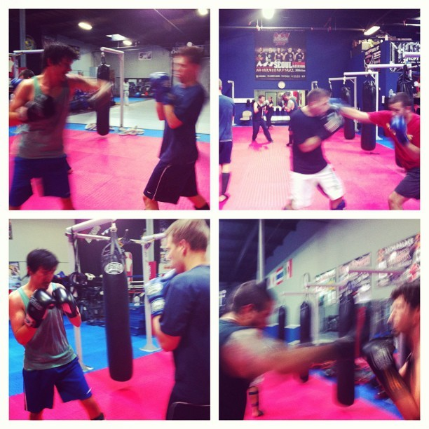 Few pics from 6am @scolesdang class at @teamoyama. They're only blurry because we're fast. Ha