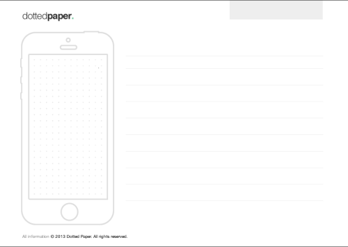 Awesome and free wireframing paper templates by Dotted Paper. Available here.